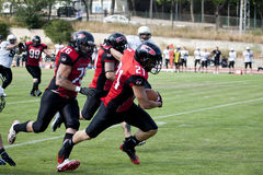 Final EFAF CUP 2013. PIONERS VS BLACK PANTHERS Stock Photo