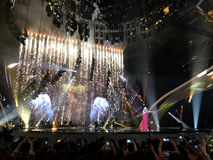 Final of Eurovision 2017 on the stage of the International Exhib Stock Image