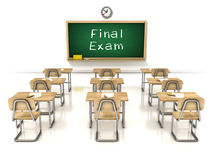 Final exam 3d illustration Royalty Free Stock Photo