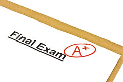Final Exam Marked With A+ stock images