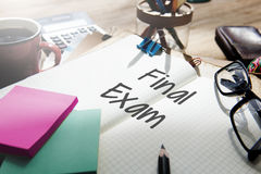Final Exam Results Test Reading Books Words Concept Royalty Free Stock Image