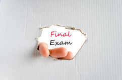 Final exam text concept Stock Images