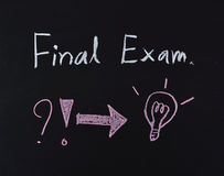 Final exam text Stock Photography