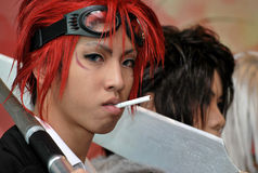 Final Fantasy Cosplayers Stock Image