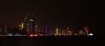 Final fireworks Doha Royalty Free Stock Photography