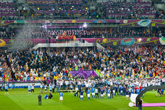 Final football game of UEFA EURO 2012 Stock Image