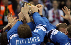 Final game on IIHF World championship, Slovakia Stock Images