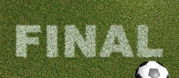 FINAL - grame letras na rendição do futebol field-3D Foto de Stock Royalty Free