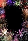 Final grande dos fogos-de-artifício Imagem de Stock Royalty Free