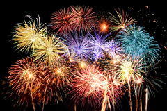 Final grande dos fogos-de-artifício fotos de stock royalty free