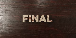 Final - grungy wooden headline on Maple  - 3D rendered royalty free stock image. This image can be used for an online website banner ad or a print postcard Royalty Free Stock Image
