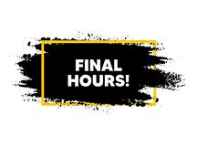Free Final Hours Sale. Special Offer Price Sign. Vector Royalty Free Stock Image - 203410746
