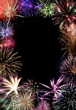 Final magnífico de los fuegos artificiales Imagen de archivo libre de regalías