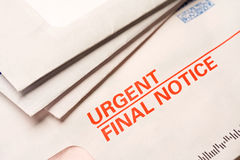 Final notice royalty free stock image