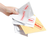 Final notice bills Royalty Free Stock Photo