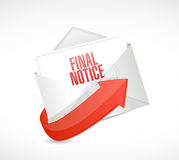 Final notice mail illustration design. Over a white background Stock Images