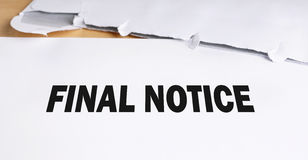 Final notice Royalty Free Stock Photo
