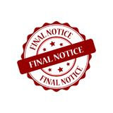 Final notice stamp illustration. Final notice red stamp illustration design Royalty Free Stock Images