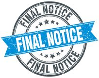 Final notice stamp. Final notice round grunge vintage ribbon stamp. final notice Royalty Free Stock Photography