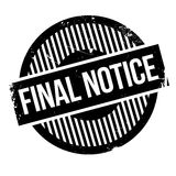 Final notice rubber stamp. Grunge design with dust scratches. Effects can be easily removed for a clean, crisp look. Color is easily changed Royalty Free Stock Images