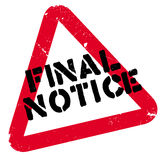 Final notice rubber stamp Stock Photography