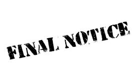 Final Notice rubber stamp Stock Images