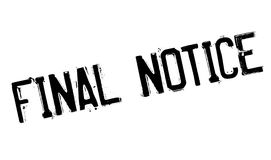 Final Notice rubber stamp Stock Photos
