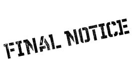 Final Notice rubber stamp. Grunge design with dust scratches. Effects can be easily removed for a clean, crisp look. Color is easily changed Royalty Free Stock Photo