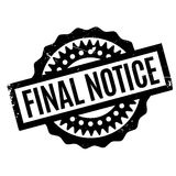 Final Notice rubber stamp. Grunge design with dust scratches. Effects can be easily removed for a clean, crisp look. Color is easily changed Stock Photography