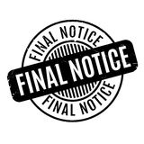 Final Notice rubber stamp. Grunge design with dust scratches. Effects can be easily removed for a clean, crisp look. Color is easily changed Royalty Free Stock Photography