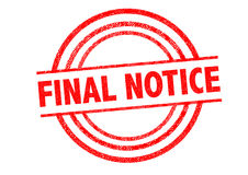 FINAL NOTICE Rubber Stamp Stock Photo