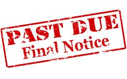Final notice. Rubber stamp with text final notice inside,  illustration Royalty Free Stock Images