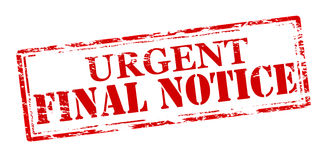 Final notice. Rubber stamp with text final notice inside,  illustration Stock Photos