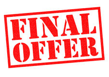 FINAL OFFER. Red Rubber Stamp over a white background Stock Photo