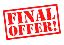 FINAL OFFER!. Red Rubber Stamp over a white background Royalty Free Stock Photo