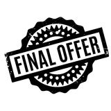 Final Offer rubber stamp. Grunge design with dust scratches. Effects can be easily removed for a clean, crisp look. Color is easily changed Royalty Free Stock Images