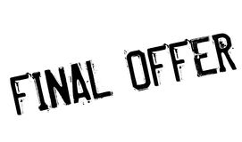 Final Offer rubber stamp. Grunge design with dust scratches. Effects can be easily removed for a clean, crisp look. Color is easily changed Stock Images