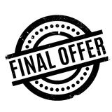 Final Offer rubber stamp. Grunge design with dust scratches. Effects can be easily removed for a clean, crisp look. Color is easily changed Royalty Free Stock Photos