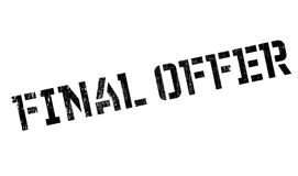 Final Offer rubber stamp. Grunge design with dust scratches. Effects can be easily removed for a clean, crisp look. Color is easily changed Stock Photo