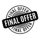 Final Offer rubber stamp. Grunge design with dust scratches. Effects can be easily removed for a clean, crisp look. Color is easily changed Royalty Free Stock Photography