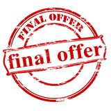 Final offer. Rubber stamp with text final offer inside,  illustration Royalty Free Stock Photo