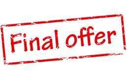 Final offer. Rubber stamp with text final offer inside,  illustration Stock Photos
