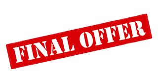 Final offer. Rubber stamp with text final offer inside,  illustration Stock Images