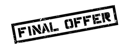 Final Offer rubber stamp. On white. Print, impress, overprint Royalty Free Stock Photo