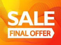 The final offer sale promo banner Royalty Free Illustration