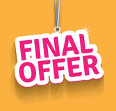 Final Offer. Vector contains transparent objects and blends Stock Photos