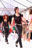 Final parade catwalk models Stock Photography