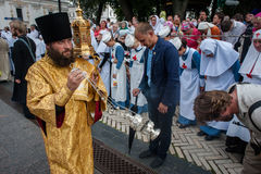 The final part of procession for peace in Kyiv Stock Photography