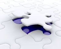 The final piece. 3D render of a final puzzle piece being fitted Royalty Free Stock Image