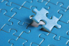 Final piece of jigsaw Stock Photo